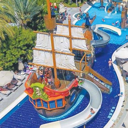 giochi acquatici nave pirata water playground