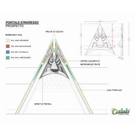 progettazione scenografia prospetto frontale