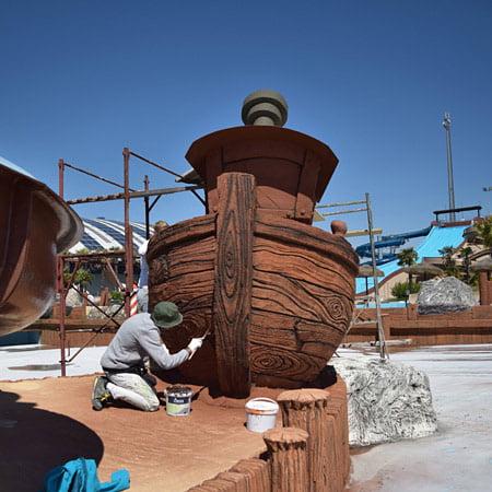 scenografia vascello parco acquatico