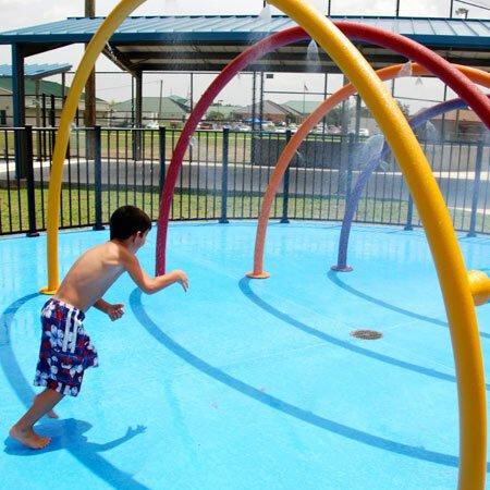 spray park giochi acquatici