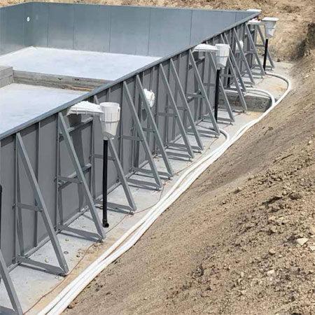struttura autoportante acciaio piscina