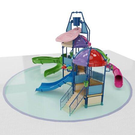 water playground giochi acquatici